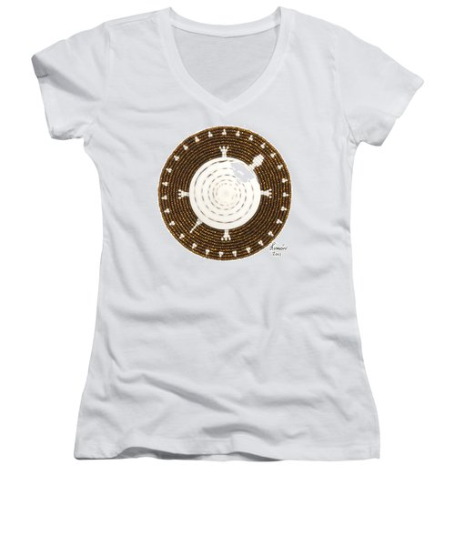 White Shell Women's V-Neck