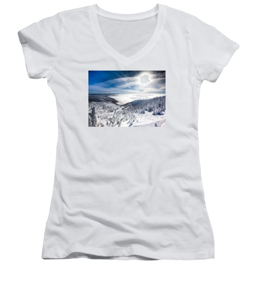 Whitefish Inversion Women's V-Neck T-Shirt