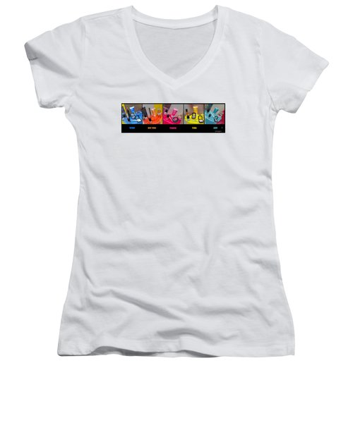 Women's V-Neck featuring the photograph Who Do You Think You Are ? by Stwayne Keubrick