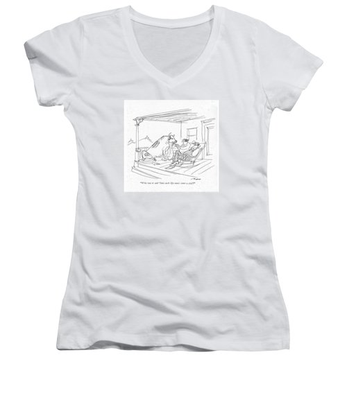 Who Was It Said 'into Each Life Must Come A Cow'? Women's V-Neck