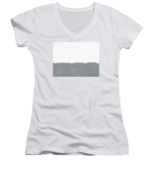Women's V-Neck T-Shirt (Junior Cut) featuring the digital art Why Shouldn't There Be Secrets Buried by Kevin McLaughlin