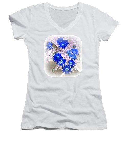 Wild Blue Women's V-Neck T-Shirt (Junior Cut) by Kenneth Clarke