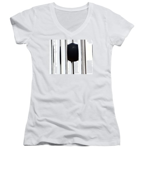 Wind Chime In Black And White Women's V-Neck