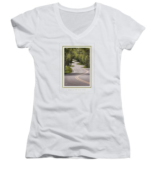 Winding Road Door County Women's V-Neck (Athletic Fit)