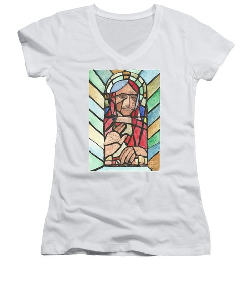 Window Of Peace Women's V-Neck T-Shirt