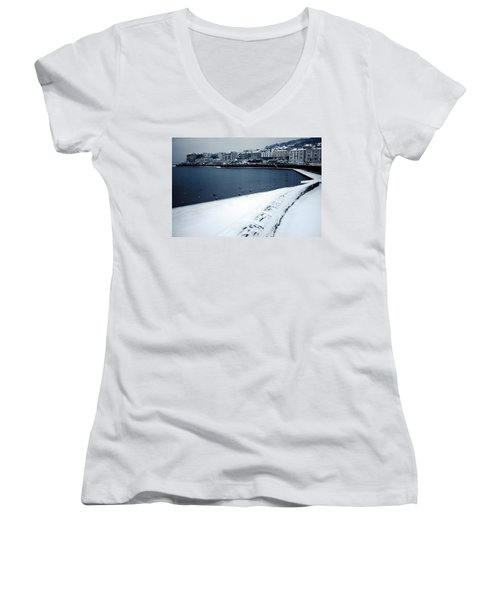 Winter Blues Women's V-Neck (Athletic Fit)