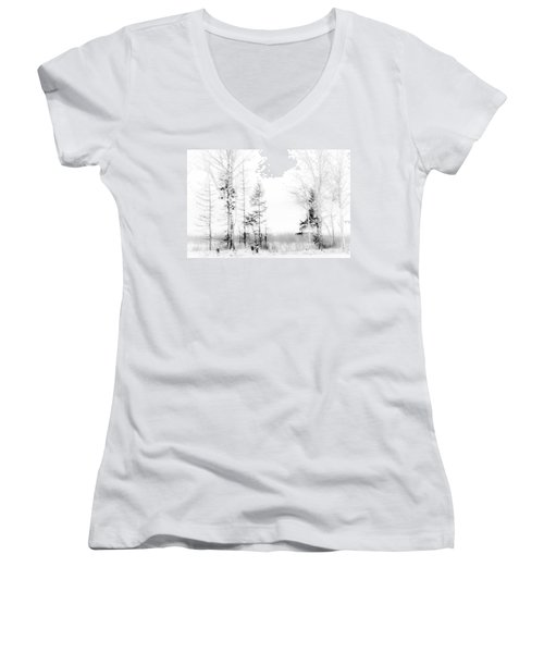 Winter Drawing Women's V-Neck