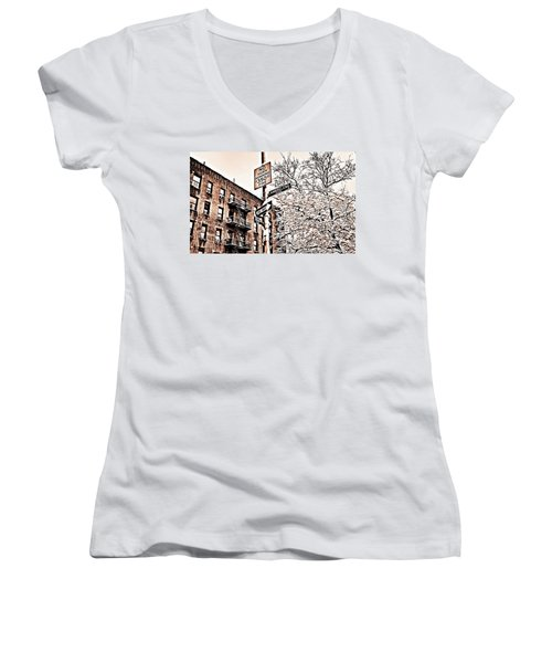 Winter In The Bronx Women's V-Neck (Athletic Fit)