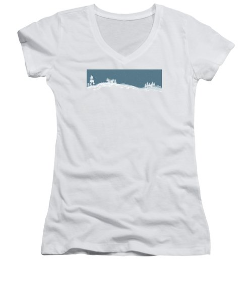 Winter Pines Women's V-Neck