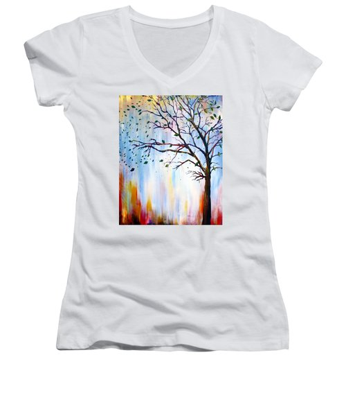 Winter Windstorm Women's V-Neck T-Shirt
