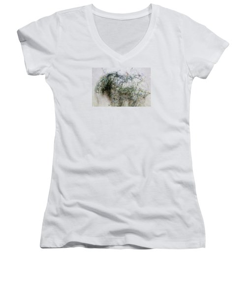 Wired Women's V-Neck T-Shirt (Junior Cut) by John Stuart Webbstock