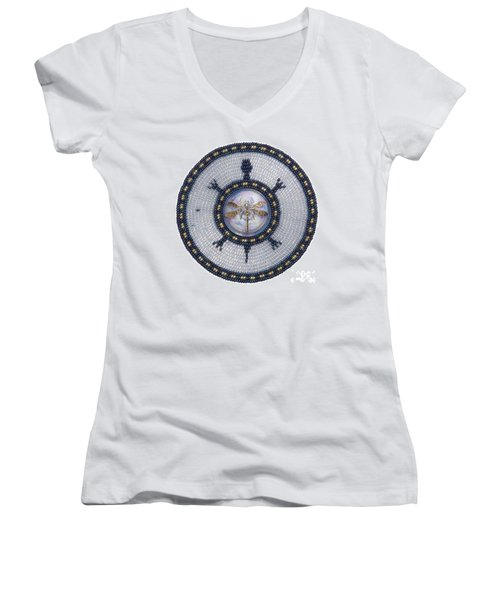 Wishing Pond Turtle Women's V-Neck