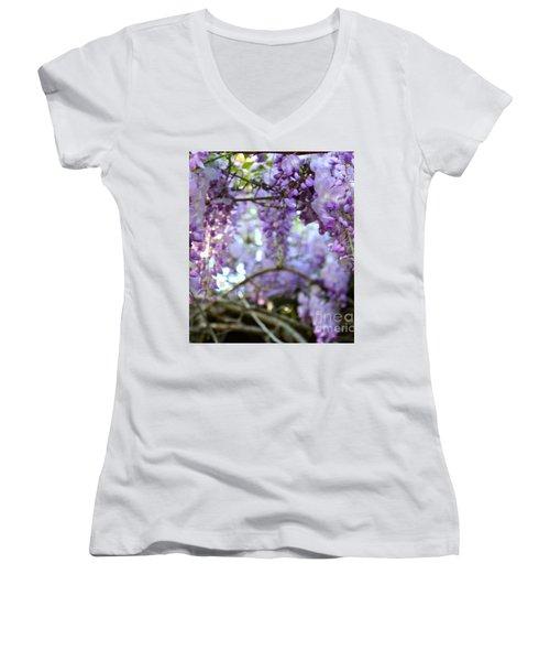 Wisteria Dream Women's V-Neck T-Shirt