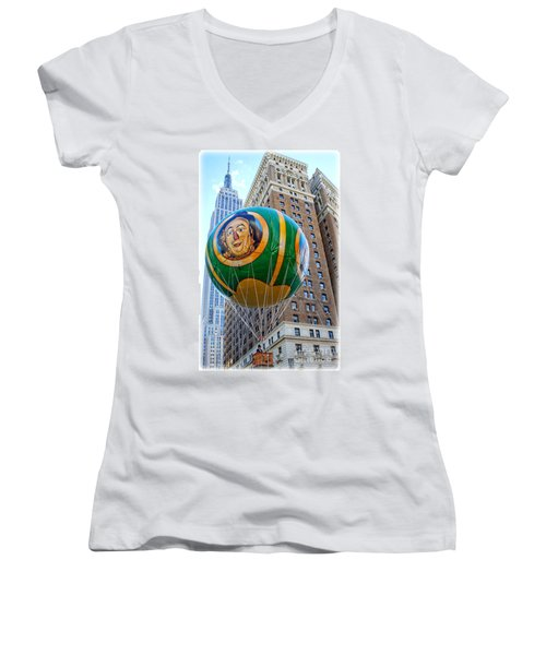 Wizard Of Oz In New York  Women's V-Neck (Athletic Fit)