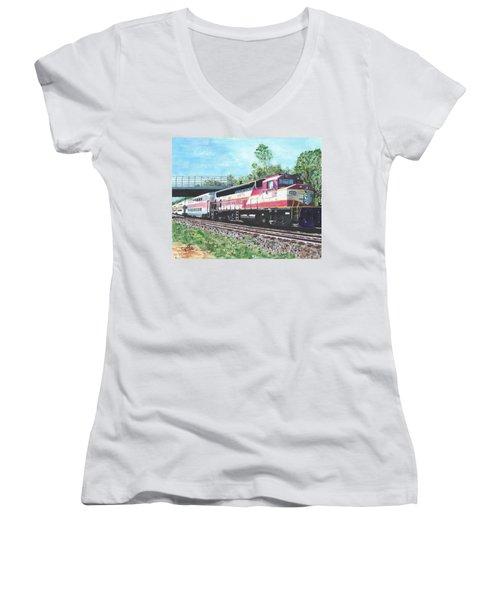 Worcester Bound T Train Women's V-Neck T-Shirt