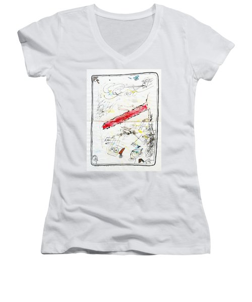 Wounded Verwundet Women's V-Neck T-Shirt