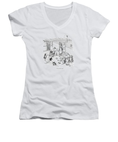 Write About Dogs! Women's V-Neck