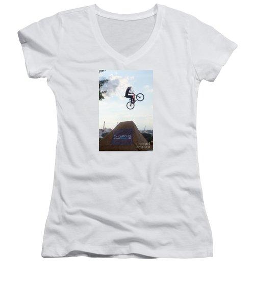 X Games Munich 4 Women's V-Neck T-Shirt (Junior Cut) by Rudi Prott