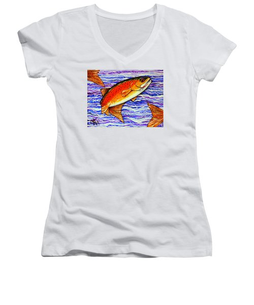Yellowstone Cutthroat Women's V-Neck (Athletic Fit)