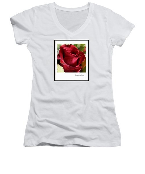 You Are The One For Me Women's V-Neck T-Shirt (Junior Cut) by Ella Kaye Dickey