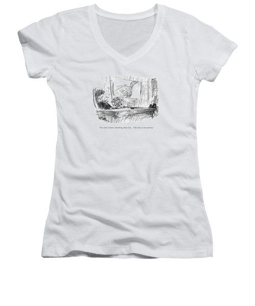 You Seem To Know Something About Law.  I Like Women's V-Neck T-Shirt