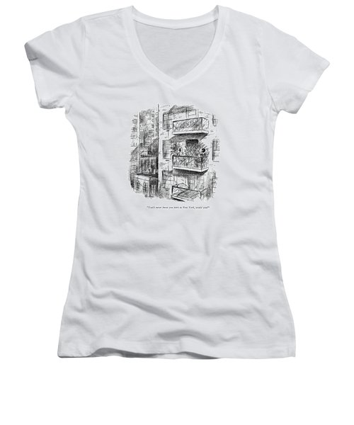 You'd Never Know You Were In New York Women's V-Neck