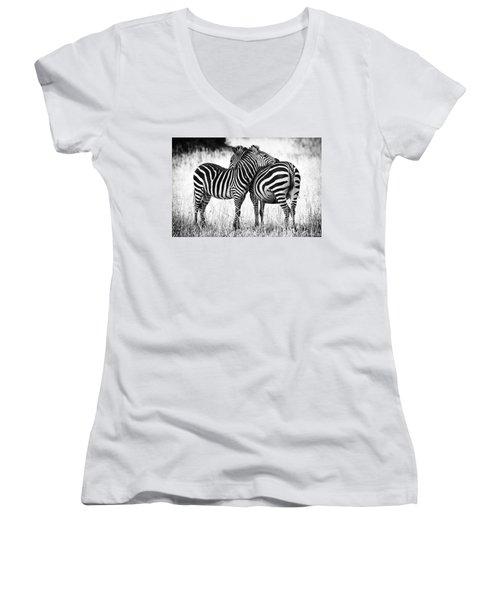 Zebra Love Women's V-Neck