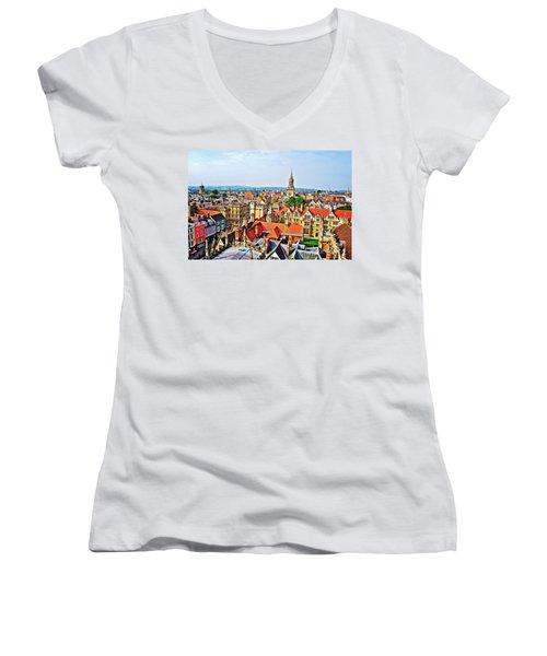 Oxford Cityscape Women's V-Neck