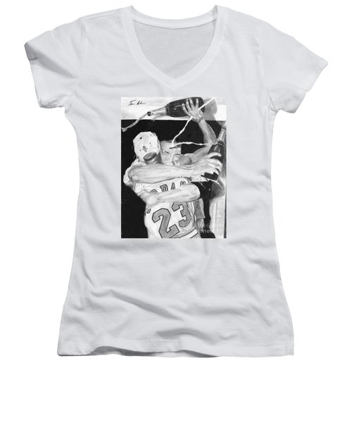 Bulls Celebration Women's V-Neck T-Shirt