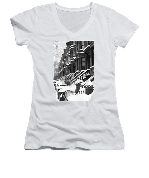 Carroll Street Women's V-Neck T-Shirt