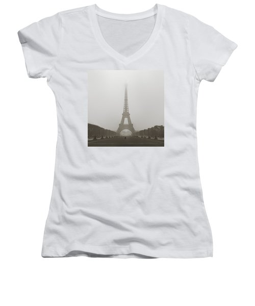 Foggy Morning In Paris Women's V-Neck