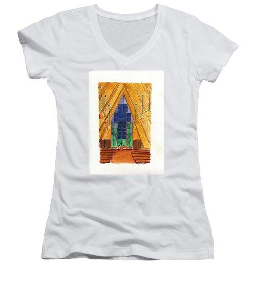 Placerville Chapel Women's V-Neck T-Shirt