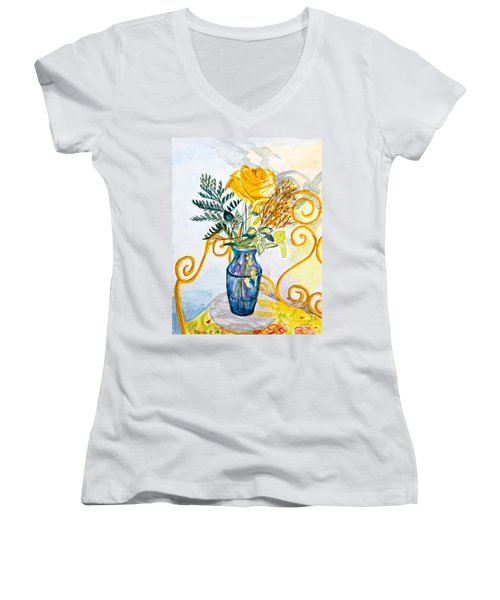 The Blue Vase Women's V-Neck (Athletic Fit)