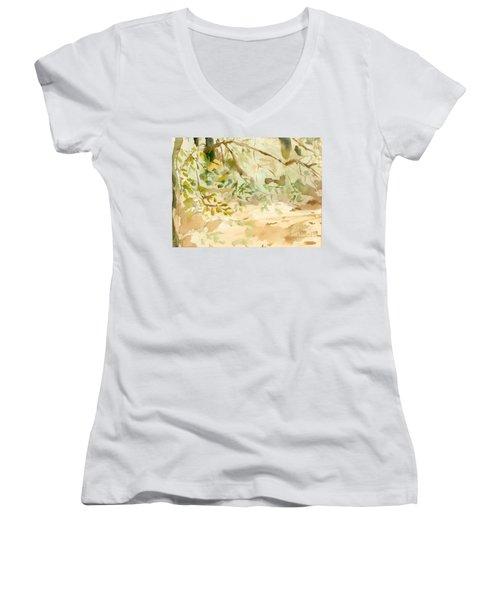 The Breeze Between Women's V-Neck T-Shirt (Junior Cut)