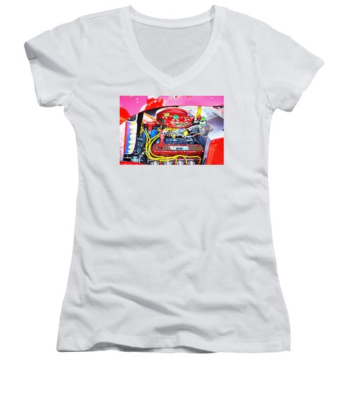 Women's V-Neck T-Shirt (Junior Cut) featuring the photograph 1933 M And M Hot Rod Ford by Paul Mashburn
