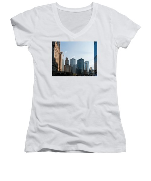 Chicago City Center Women's V-Neck T-Shirt