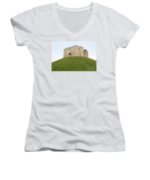 Scenes From The City Of York  Women's V-Neck T-Shirt