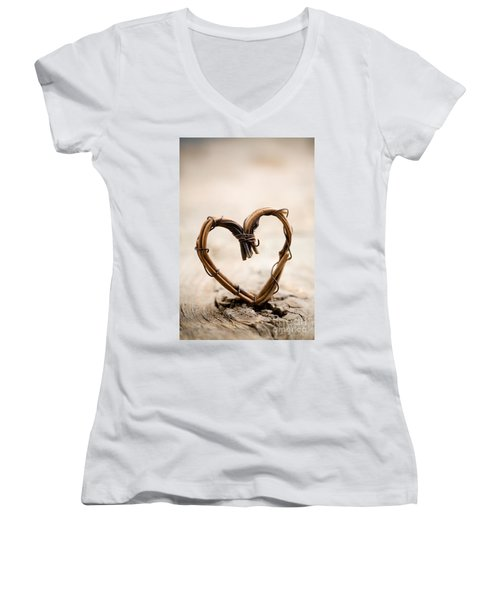 Valentine Heart Women's V-Neck T-Shirt