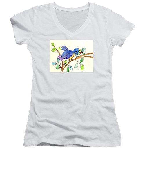 A Bird Women's V-Neck
