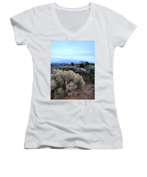 A Desert View After Sunset Women's V-Neck (Athletic Fit)