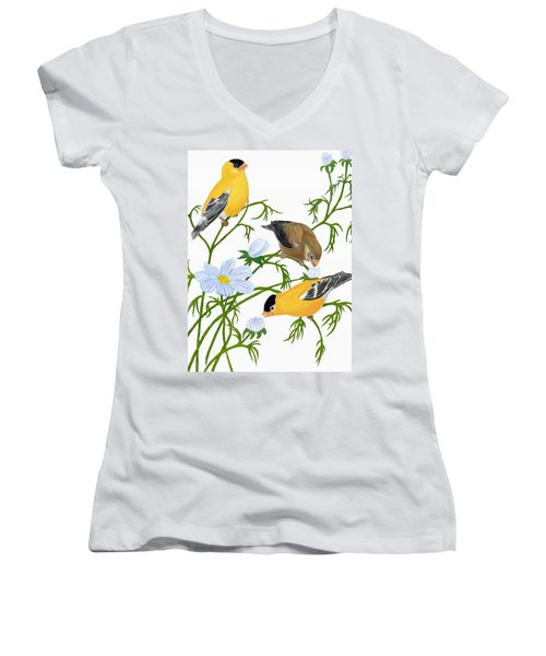American Goldfinch Women's V-Neck (Athletic Fit)