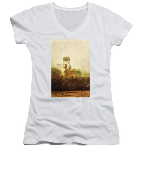 Ancient Transformer Tower Women's V-Neck T-Shirt