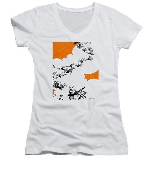 As The Crows Fly Women's V-Neck T-Shirt