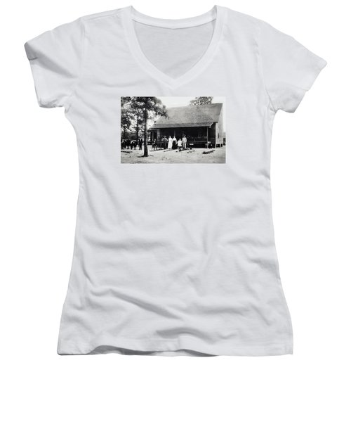 At Home  Women's V-Neck T-Shirt