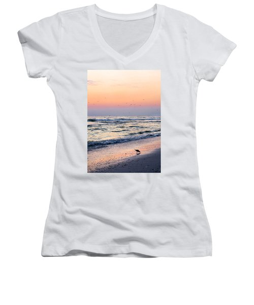 At Sunset Women's V-Neck T-Shirt