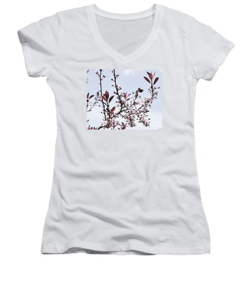 Blossoms In Time Women's V-Neck