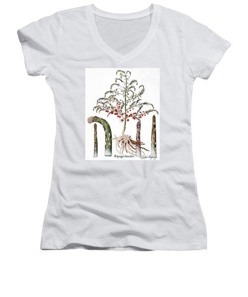 Botany: Asparagus, 1613 Women's V-Neck T-Shirt