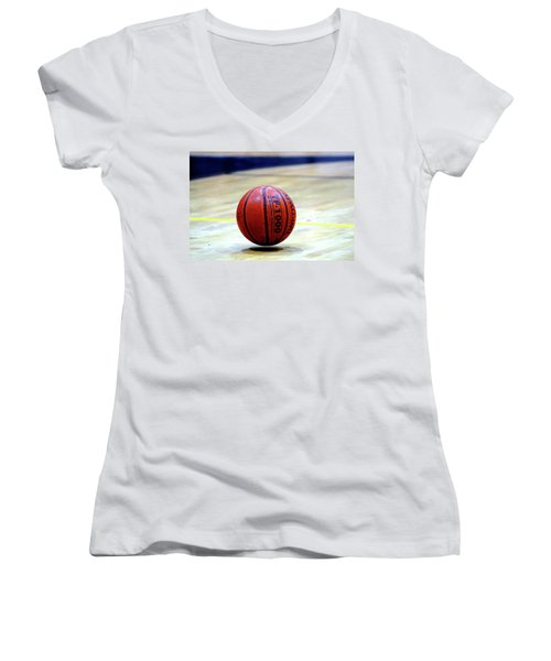 Bouncing Ball Women's V-Neck (Athletic Fit)