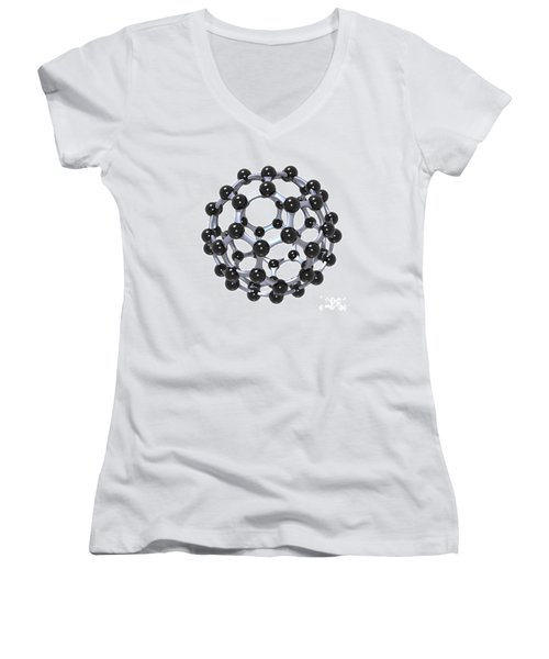 Buckminsterfullerene Or Buckyball C60 18 Women's V-Neck T-Shirt