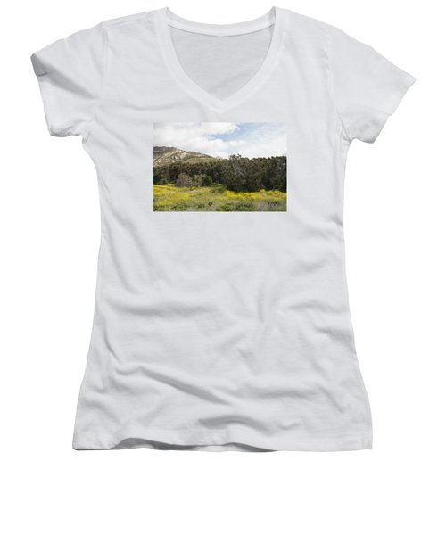 California Hillside View IIi Women's V-Neck (Athletic Fit)